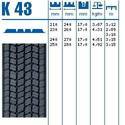 275/70R22,5 SPRO TL K43(240) CONTINENTAL